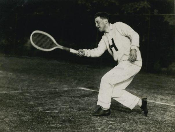 Richard Norris Williams magyar ellenfelet is legyőzött a párizsi olimpián - Fotó:tennisarchives.com