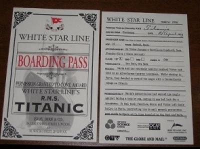 Ilyen beszállókártáyval lehetett felszállni annak idején a Titanicra - Fotó:shanrev.blogspot.com