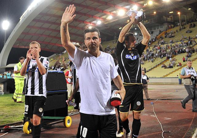 Antonio Di Natale valószínűleg kimarad az Udinese kezdőjéből, az ő gólérzékenysége pedig hiányozhat csapatának - Fotó: AFP