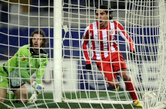 Falcao duplázott a Stadio Olimpicóban - Fotó: AFP