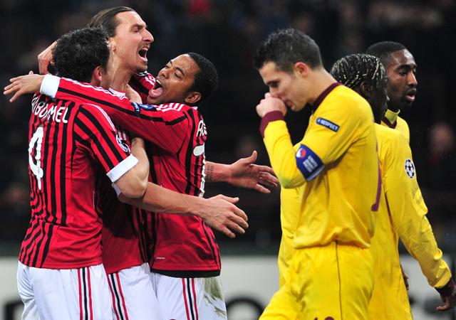A Milan az elmúlt hetek legjobbját hozta az Arsenal ellen - Fotó: AFP