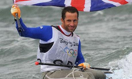 Ben Ainslie eddig három olimpián nyert aranyérmet, Londonban jöhet a negyedik - Fotó:guardian.co.uk