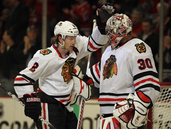 Ray Emery és Duncan Keith