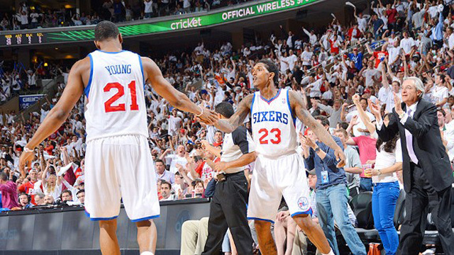 Thaddeus Young és Lou Williams