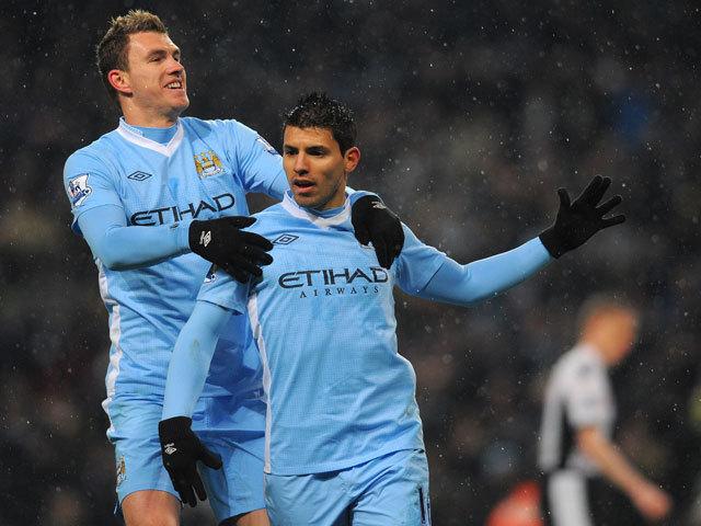 Agüero és Dzeko együttes erővel húzták be a bajnoki címet a Citynek - Fotó: AFP