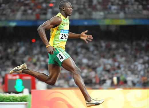 Usain Bolt 400 méterekkel melegít a londoni olimpiára - Fotó:newsone.com