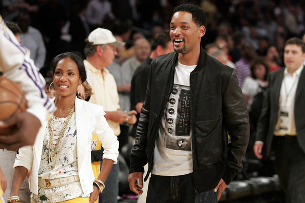 Will Smith filmsztár és felesége Jada Pinkett-Smith a Los Angeles Lakers-Boston Celtics NBA-döntőn