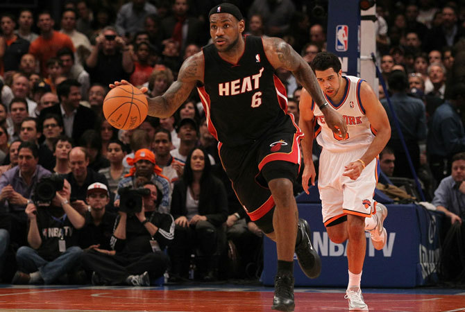 LeBron James a Now York Knicks ellen